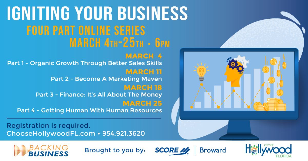 Broward SCORE • Igniting Your Business